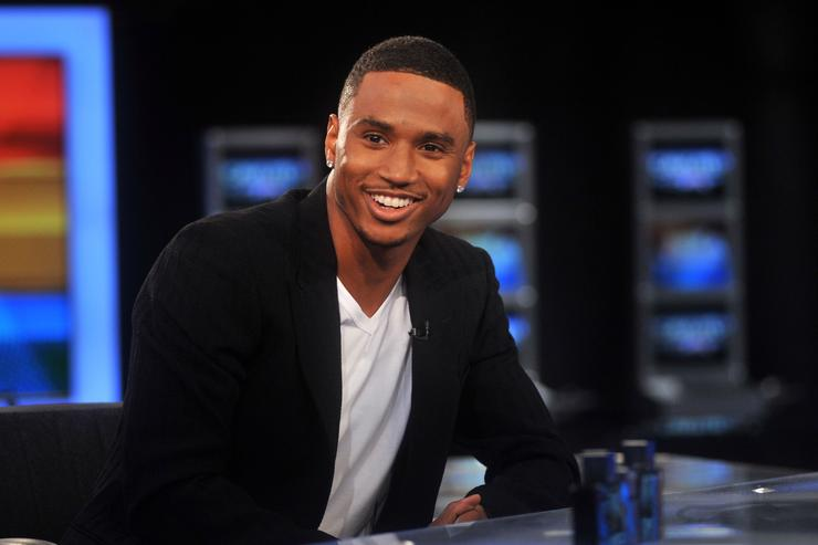 Singer Trey Songz visits America's Nightly Scoreboard on FOX Business Network at FOX Studios on August 15, 2011 in New York City