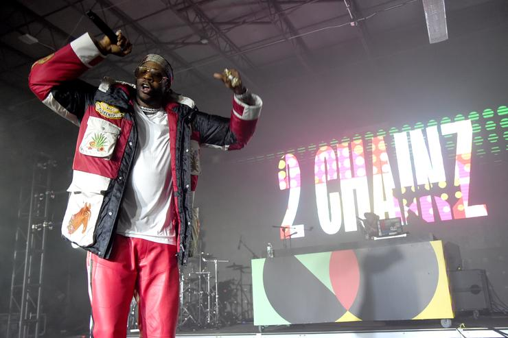 2 Chainz performs onstage during BACARDI, Swizz Beatz and The Dean Collection bring NO COMMISSION back to Miami to celebrate 'Island Might' at Soho Studios on December 9, 2017 in Miami, Florida
