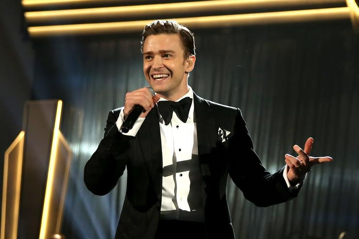 Singer Justin Timberlake onstage during the 55th Annual GRAMMY Awards at STAPLES Center on February 10, 2013 in Los Angeles, California