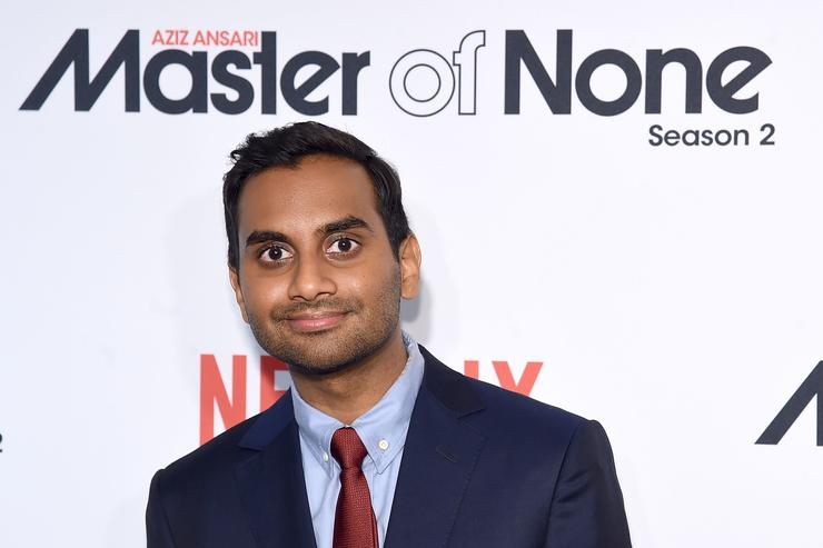 Aziz Ansari attends the 'Master Of None' Season 2 Premiere at SVA Theatre on May 11, 2017 in New York City