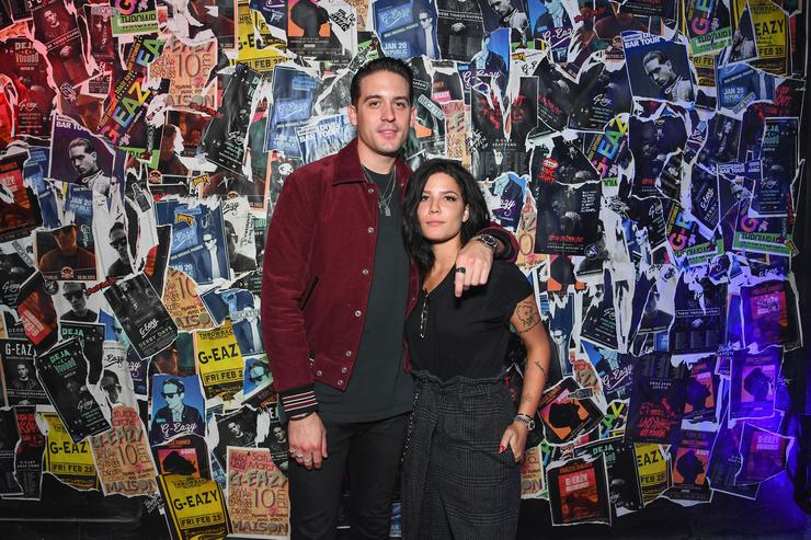 G-Eazy and Halsey attend G-Eazy's debut limited capsule collection 'Gerry's' in partnership with Bud Light at The Santos Bar on August 29, 2017 in New Orleans, Louisiana