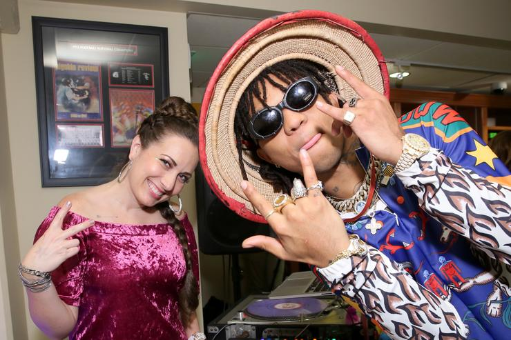 DJ Brandi Garcia and Swae Lee of Rae Sremmurd at Backstage Creations Celebrity Retreat at Teen Choice 2017 - Day 2 at Galen Center on August 13, 2017 in Los Angeles, California.