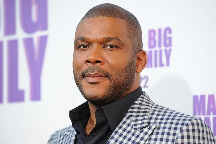 Director/Writer Tyler Perry arrives at the Lionsgate premiere of 'Madea's Big Happy Family' at ArcLight Cinemas Cinerama Dome on April 19, 2011 in Hollywood, California