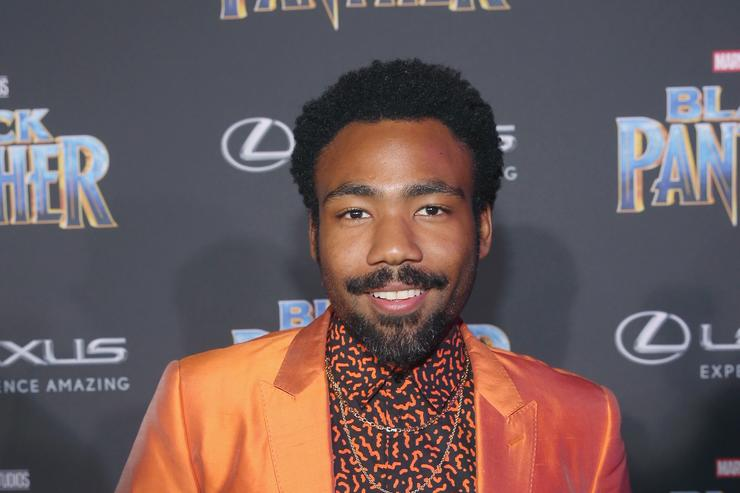Childish Gambino at Black Panther movie premiere