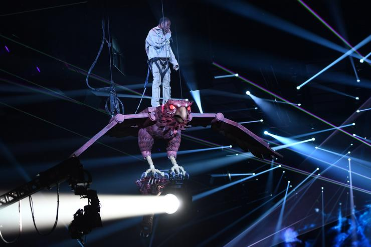 Travis Scott performing at MTV EMAs