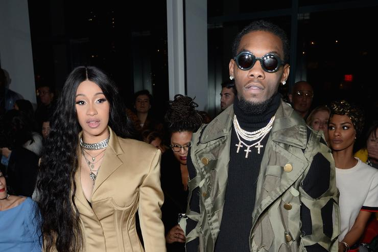Cardi B Covers Midsection at NYFW Amid Pregnancy Rumors