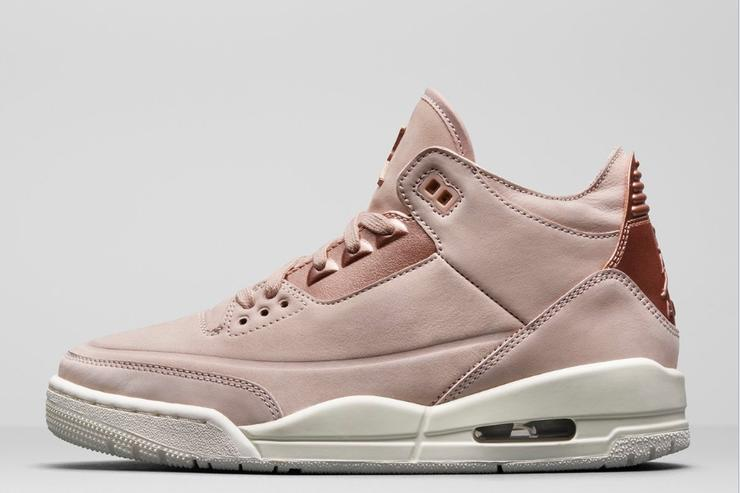 rose gold jordan shoes