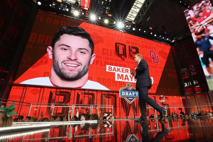 Baker Mayfield at NFL Draft