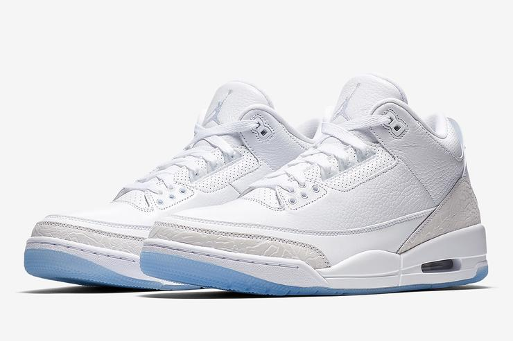 "Air Jordan 3 ""Pure White"" Drops Tomorrow  Where To Purchase 0afacdc210"