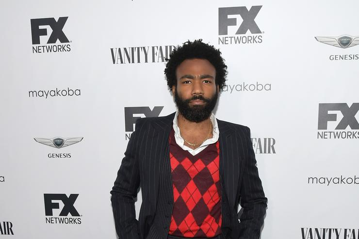 Donald Glover appears as 'Atlanta' character Teddy Perkins at the Emmys