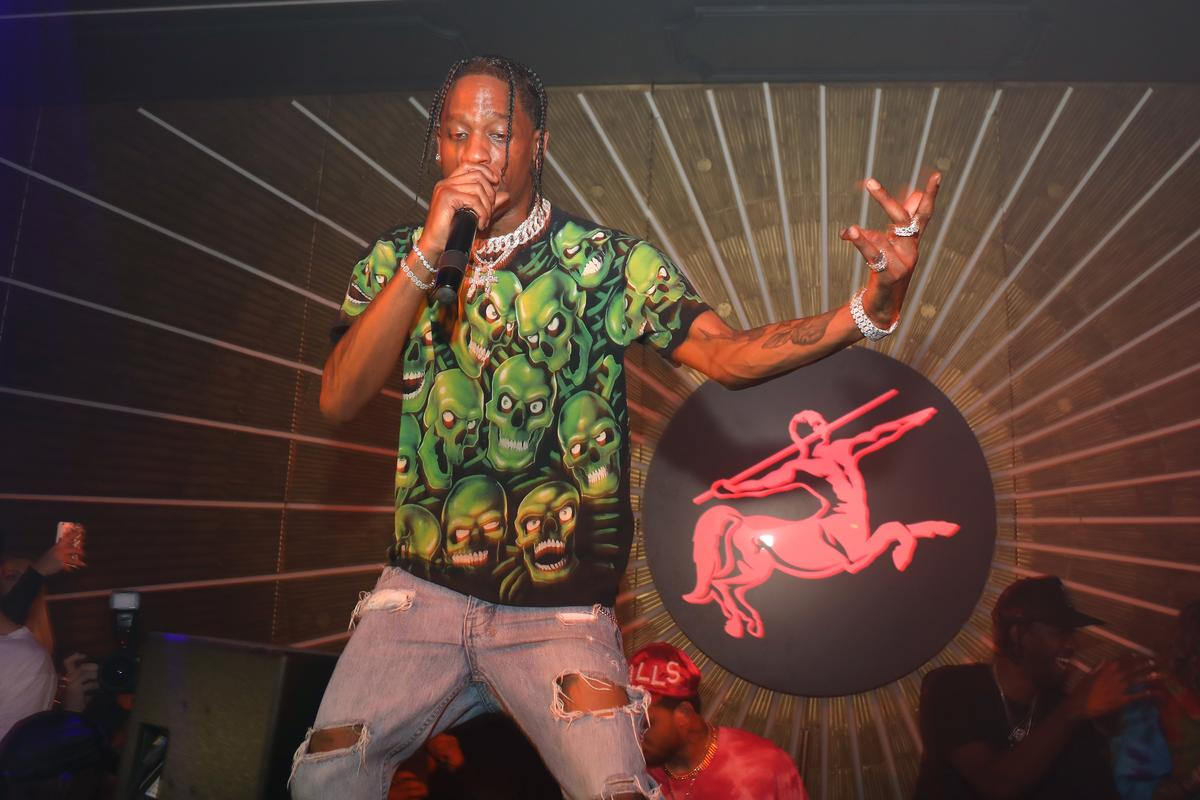 a5ee802b24b8 Travis Scott Performs Medley Of Hits At NBA Awards Show