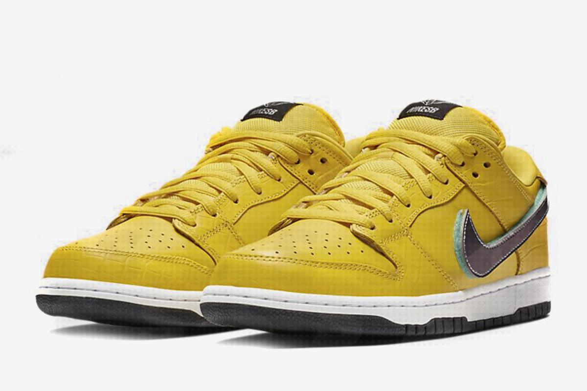 finest selection e9e76 587f9 Diamond Supply Co. x Nike SB Dunk Low Surfaces In Yellow ...
