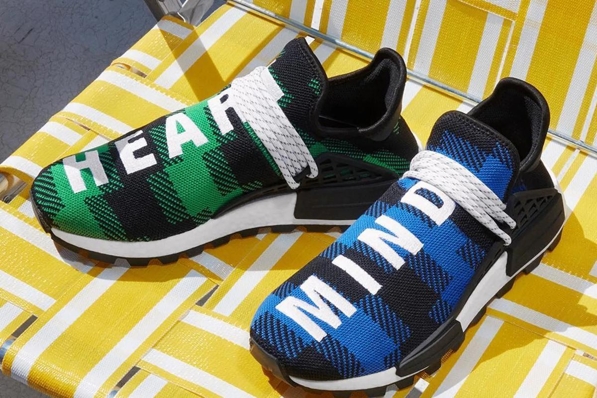 size 40 5a49d 1e816 Pharrell Adidas NMD Hu X BBC Releasing In Plaid Colors This ...