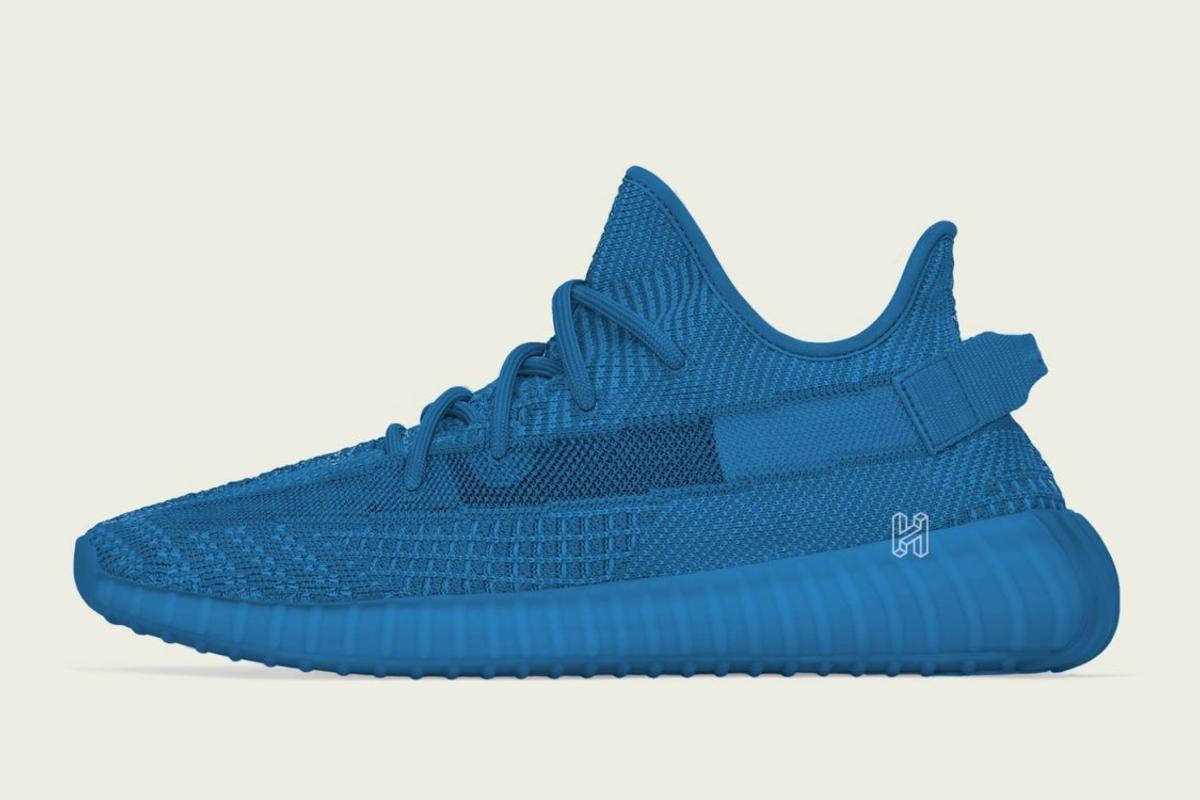 the latest 61425 973a7 Adidas Yeezy Boost 350 V2 Blue
