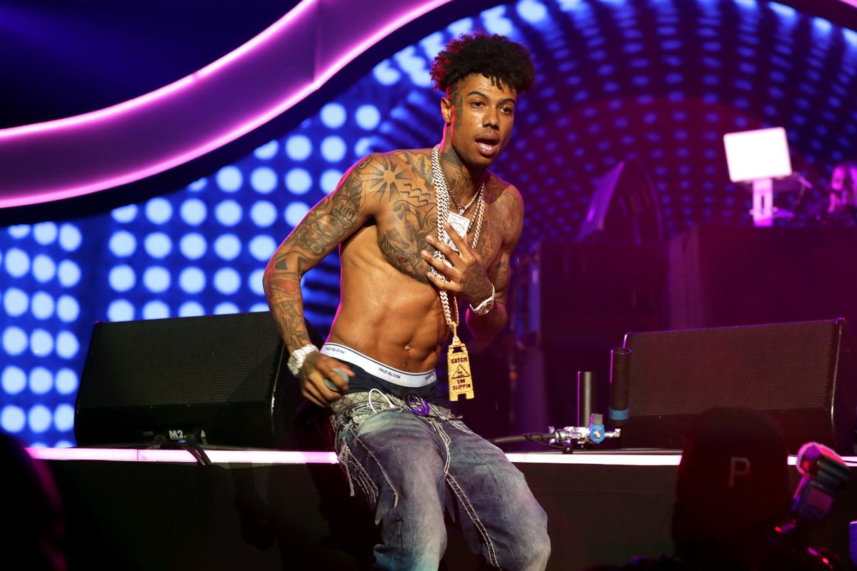 Blueface Shares Surveillance Footage Of Fight With Family