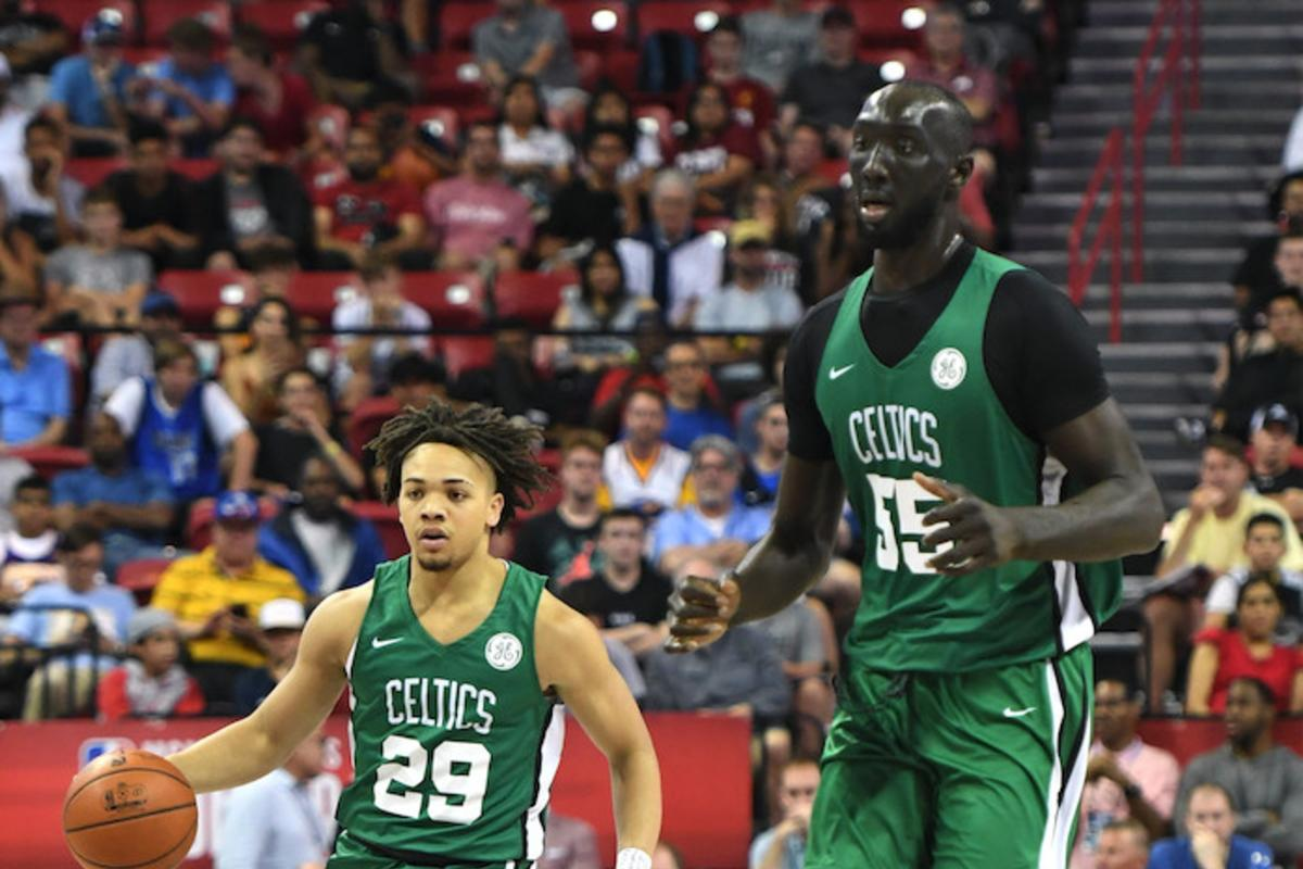 Tacko Fall Carsen Edwards Height Difference Has Fans Cracking Jokes