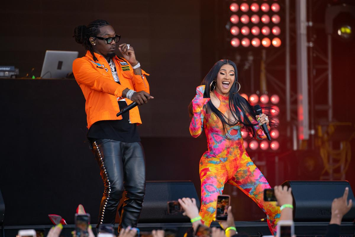 Cardi B Facetimes Offset To Show Off New Tattoo Of His Name On Back
